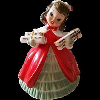 Napco Girl Christmas Planter