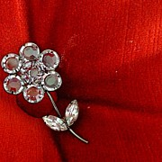 Open Back Unfoil Clear Bezel Cut Crystal Pin Brooch