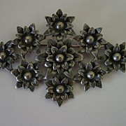 Huge Poinsettia Pewter Pin