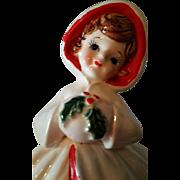 Relpo Holiday Christmas Girl Planter