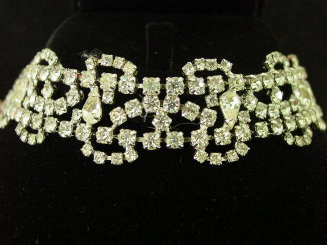 Sensational Super Wide Rhinestone Bracelet