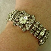 Lovely  Wide Rhinestone Bracelet