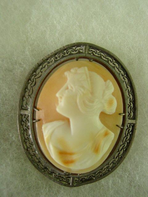 Sterling Silver Left Profile Cameo
