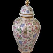 Thomas Ivory Bavaria Floral Chintz Design Urn
