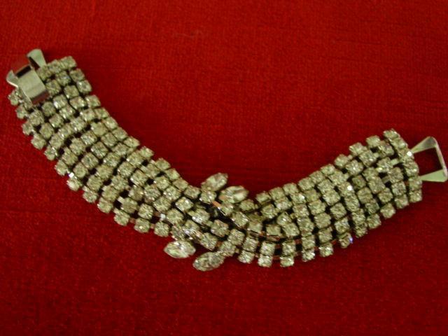 Glamorous Twist Layer Rhinestone Wide Bracelet