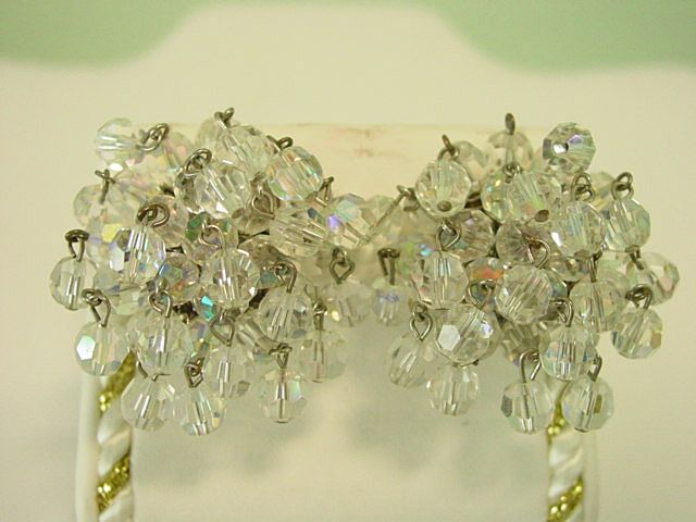 Vogue Cut Crystal Balls Cascading Dangle Earrings