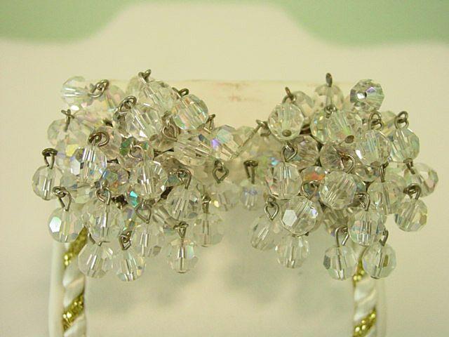 Vogue Cut Crystal Balls Cascading Dangle Earrings