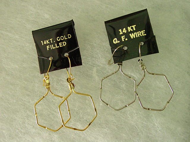 Vintage Wire Dangling Earrings w 14Kt Gold Filled Wire Hoop Earrings