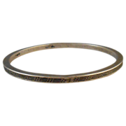 Reticulated Openwork Cut Work Sterling Bangle Bracelet