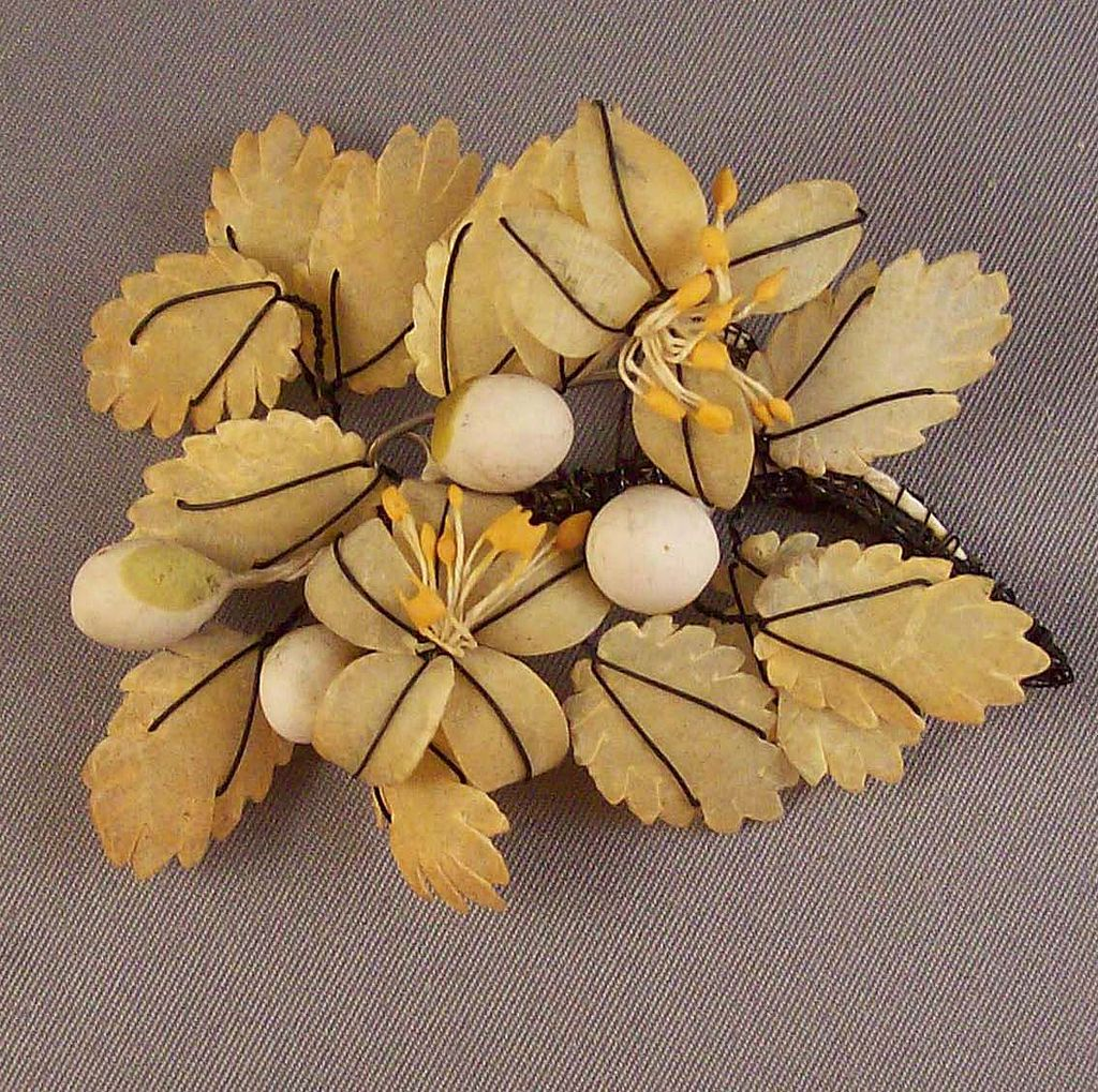 Victorian Hand Crafted Brooch Corsage~1886~Provenance