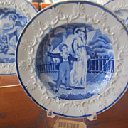 Staffordshire Transferware Childs Plate Rogers c. 1825