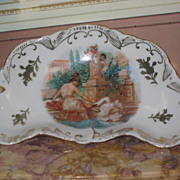 Sale~EXQUISITE Hand Painted Pin Tray with Neoclassical Motif!