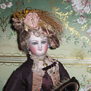 UNIQUE Victorian Miniature Fashion Doll 3 in 1 Brush, Mirror and Comb Set!