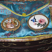 Sale~BEAUTIFUL Pair of Victorian Hand Painted Brooches!