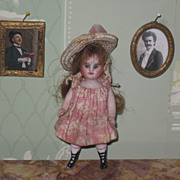 "Sale~CHARMING Pair of Victorian Miniature ""Instant Ancestors"" Ormolu Portrait Dollhouse Pictures!"