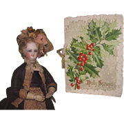 "SWEET Hard to find Antique German Lithograph ""HOLLY SPRAYS"" Victorian Christmas Book!"
