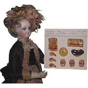 """RARE Old Store Stock Miniature Hand Painted Composition """"Dollie's Foods"""" on Original Card!"""