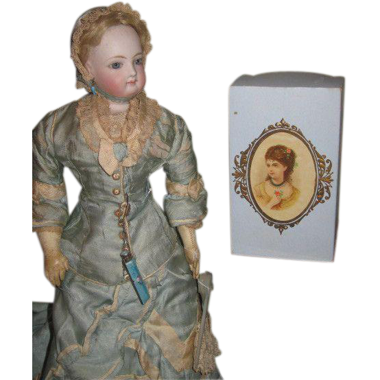 SALE! Rare Antique French Victorian Old Store Stock Cameo Lithograph Candy Container Box!