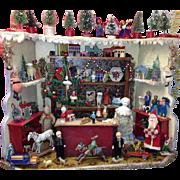 SALE! MUSEUM QUALITY Rare Antique German Miniature Christmas Toy Shop/Stall!