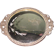 EXQUISITE Vintage Miniature Etched Mirrored Vanity Tray for FASHION DOLLS!