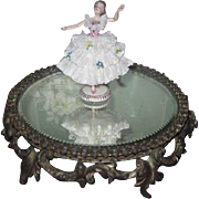 EXQUISITE Circa 1884 Antique Plateau Mirror Stand for DOLL DISPLAY!