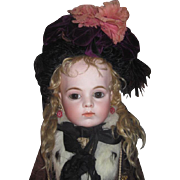 EXQUISITE Antique Purple Velvet Couture Doll Hat for BRU or JUMEAU Bebe!
