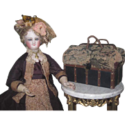 QUALITY MADE Rare Miniature French Fashion Doll Sac-Du-Voyage!