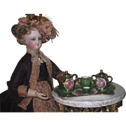LOVELY Vintage Miniature French Limoges Complete Doll Tea Set for One!
