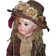HAUTE COUTURE Antique Straw Doll Milliner's Hat for BRU or JUMEAU Bebe!
