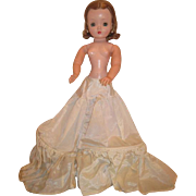 HARD TO FIND Circa 1955 Original Vintage Madame Alexander Cissy Queen Doll Taffeta Slip~AS FOUND!