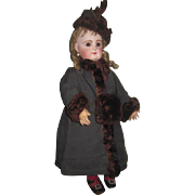 SALE! Luxurious 3 Piece Authentic Beaver Fur Trimmed Doll Coat, Hat and Muff Set!