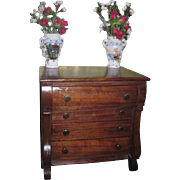 SALE!  Elaborate Antique French Fashion Doll Miniature Empire Chest of Drawers!