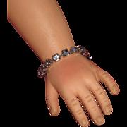 HTF Vintage Glitzy Rhinestone Metal Clasp Bracelet for Madame Alexander ELISE DOLL!