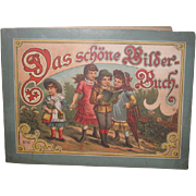 """CHARMING Antique German """"The Beautiful Picture Book"""" Illustrated Lithograph Children's Book!"""