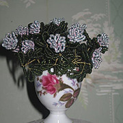 EXQUISITE Vintage Miniature Hand Beaded Floral Bouquet for FASHION DOLL Display!