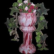 DRAMATIC Rare Antique Miniature Art Glass Pedestal Urn for FASHION DOLLS!