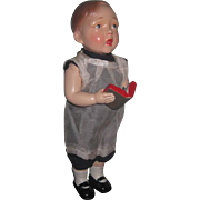 "CHARMING 9"" All Original Vintage Composition Novelty Choir Boy Doll!"