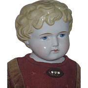 BIG Beautiful All Original 24 1/2 Inch Antique German ABG China Head Doll in AMAZING Outfit!