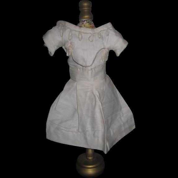 FANCY Antique French Soutache Doll Dress for JUMEAU or BRU BEBE!