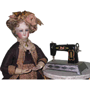 HARD TO FIND Vintage Miniature Toy Joal Sewing Machine for FASHION DOLLS!