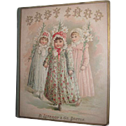 "RARE and CHARMING Antique Victorian Circa 1880's Illustrated ""Babyland"" Children's Book~Great Lithograph Cover!"