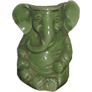 CHARMING Rare Antique C.D. Kenny Company Miniature Porcelain Elephant Figurine Match Holder!