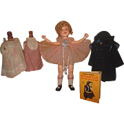 "FABULOUS 22"" Ideal 1930's Composition Shirley Temple Doll With Original Wardrobe~AMAZING WIG!"