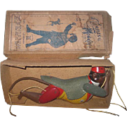 "Rare Antique German Lehmann Tin Lithograph ""Climbing Monkey"" Toy Monkey in Original Box!"