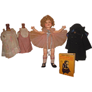 "HOLIDAY SALE! 22"" Ideal 1930's Composition Shirley Temple Doll With Original Wardrobe~AMAZING WIG!"