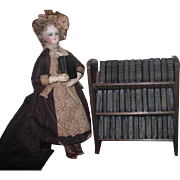 SUPERB Hard to Find Vintage English Miniature Shakespeare Volumes in Original Bookcase for FASHION DOLL Display!