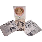 "Vintage Circa 1936 COMPLETE Boxed Set of 5 Shirley Temple ""Five Books About Me""~MINTY!"