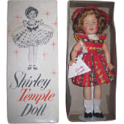 "SUPERB MIB Vintage Ideal Toy Company 12"" Vinyl Shirley Temple Doll in RARE Outfit with Accessories!"