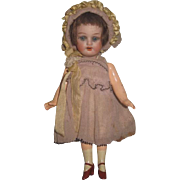 "EXCEPTIONAL 5 1/2"" Antique Factory Original Bisque Head German Head Girl Doll~ELABORATE Presentation!"