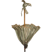 MAGNIFICENT Rare Antique French Elaborate Factory Original Blue Silk Doll Parasol~GORGEOUS!